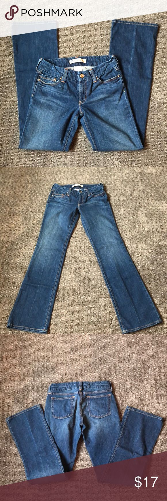 """Gap straight ultra low rise jeans Inseam is 34"""". The size is 8 tall. No rips, tears or stains. Barely worn. 99% cotton, 1% spandex. GAP Jeans Straight Leg"""
