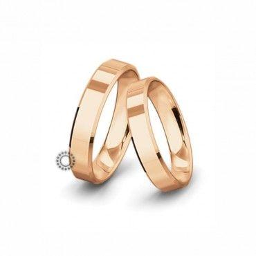 Βέρες γάμου Saint Maurice Classic ροζ χρυσός πλάτους 5.0mm επίπεδες εξωτερικά & ανατομικές | Γαμήλιες βέρες Saint Maurice ΤΣΑΛΔΑΡΗΣ στο Χαλάνδρι #SaintMaurice #βερες #γαμου #χρυσος #rings