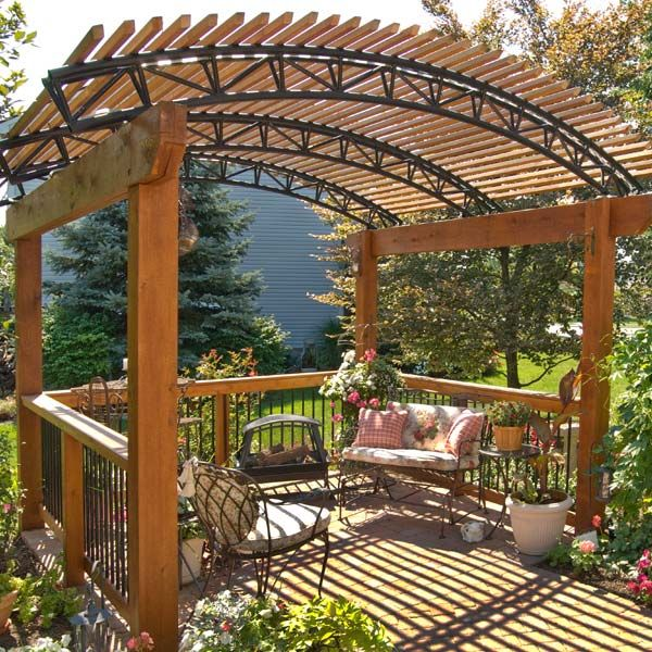 This Free Standing Pressure Treated Wood Pergola Will
