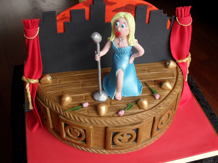Theatre themed cake - For all your cake decorating supplies, please visit craftcompany.co.uk