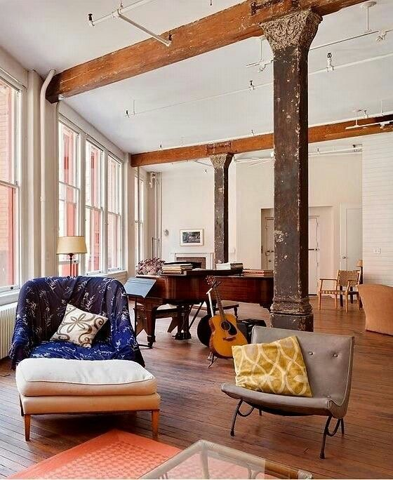 509 best loft living images on pinterest living spaces for Loft new york affitto