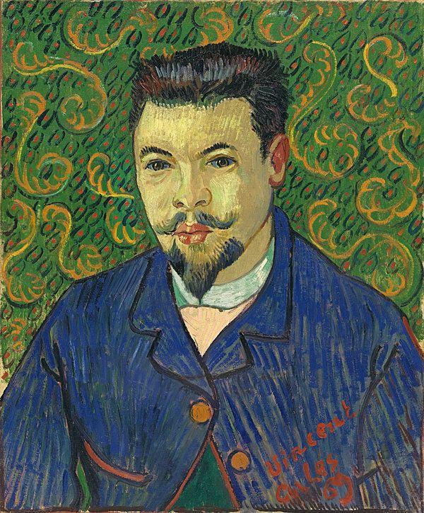 梵谷給費利克斯·雷伊醫生畫的肖像。梵谷割掉耳朵後由這位醫生治療。