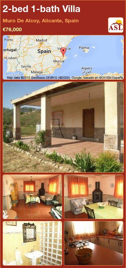 2-bed 1-bath Villa in Muro De Alcoy, Alicante, Spain ►€76,000 #PropertyForSaleInSpain