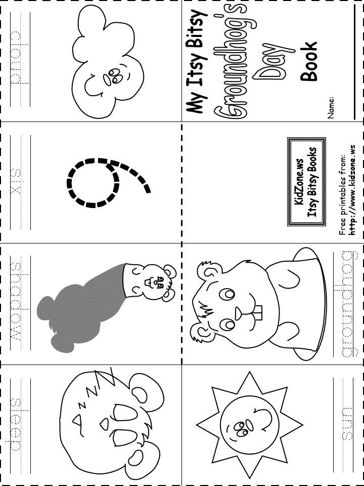 Groundhog day printable worksheets free