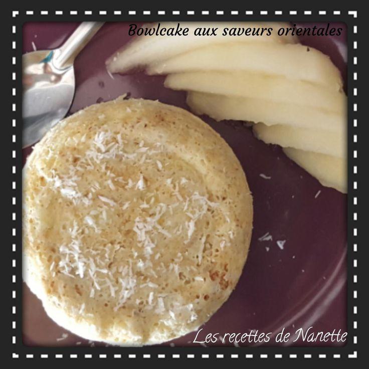 Ce matin j'avais envie de changer du traditionnel bowlcake au chocolat alors j'ai eu l'idée de me faire un peu voyager... 1 personne / 7SP Ingrédients 1 banane 1 oeuf (ou 1 blanc, dans ce cas compter 5SP) 1CS de lait écrémé 1CS d'eau de fleur d'oranger...