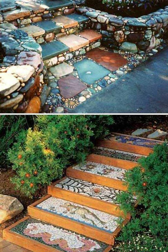Awesome DIY Garden Steps and Stairs Ideas Fantastische DIY Garten-Schritte und T…