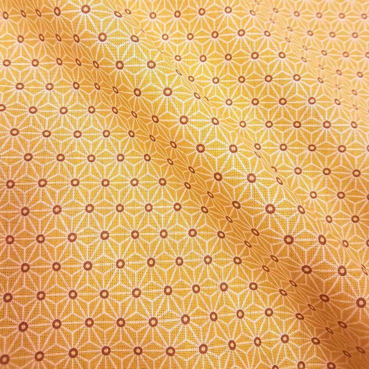 Weiteres - Stoff Baumwolle Japan Asanoha Grafik mandarine  - ein Designerstück von werthers-stoffe bei DaWanda