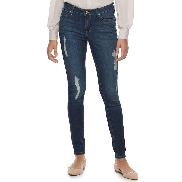 Women's Jennifer Lopez Skinny Jeans, Size: 2 Short, Dark Blue