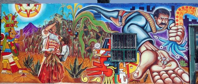 Chicano a mural la i heart art pinterest sporty los for Chicano mural art
