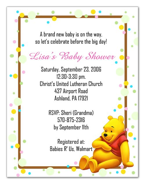 7 best cuadros decorativos images on pinterest arm party baby baby shower pooh bear baby shower invitations to make your attractive baby filmwisefo Images
