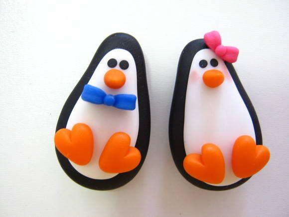 Ímã Casal de Pinguins