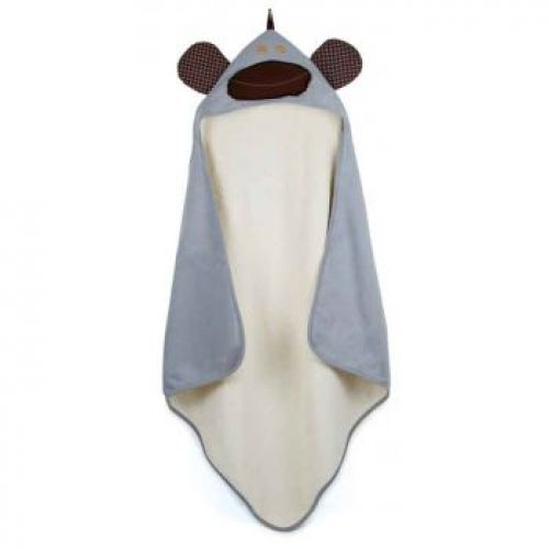 3 Sprouts Hooded Towel - Monkey (Grey)