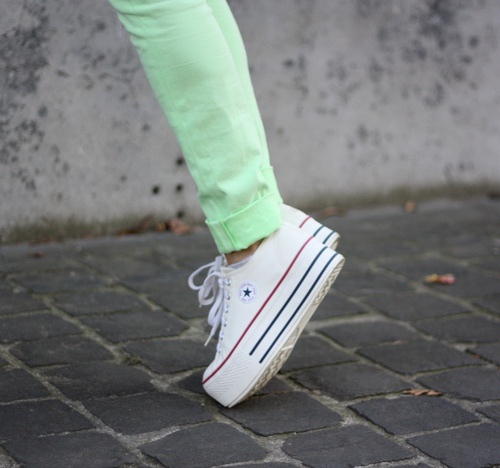 Double Platform converse. WANT! They remind me of platforms the Spice Girls wore