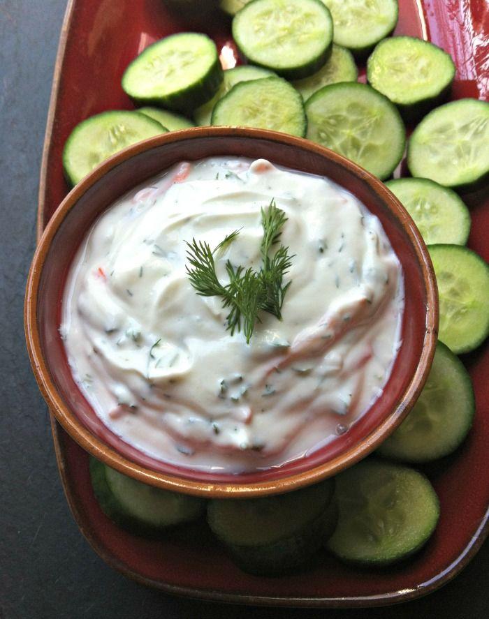 Creamy Dill Greek Yogurt Dip from A Cedar Spoon looks delicious!