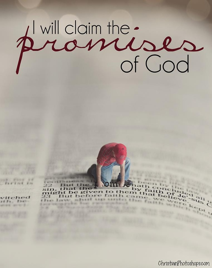 I truly believe that God's word is always faithful. If He said it, you can count on it! He is not a promise breaker!