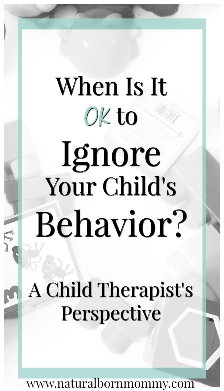 When Is It OK to Ignore Bad Behavior? (A Child Therapist's Perspective