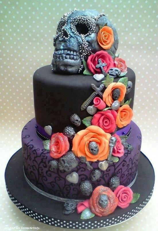 Alternative Gothic Punk Wedding Cake Birthday