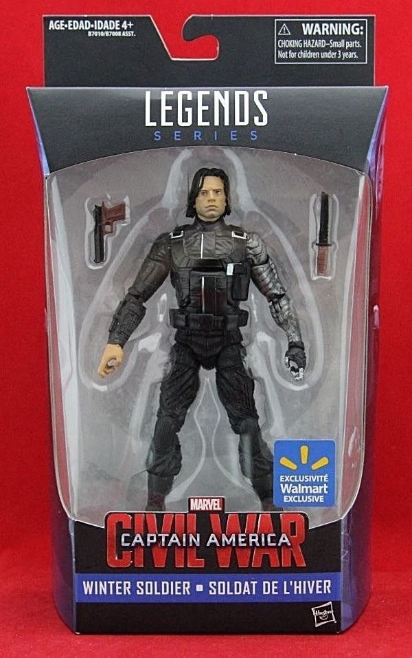 Marvel Legends Winter Soldier Action Figure Captain America Civil War Exclusive #Hasbro