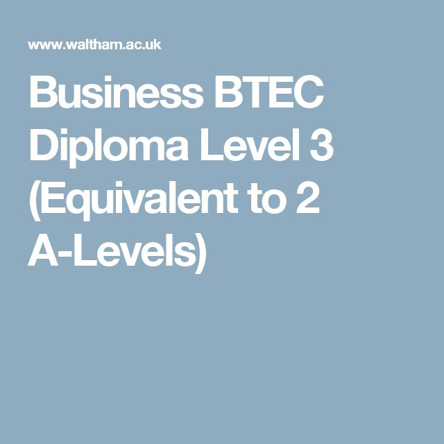Business BTEC Diploma Level 3 (Equivalent to 2 A-Levels)