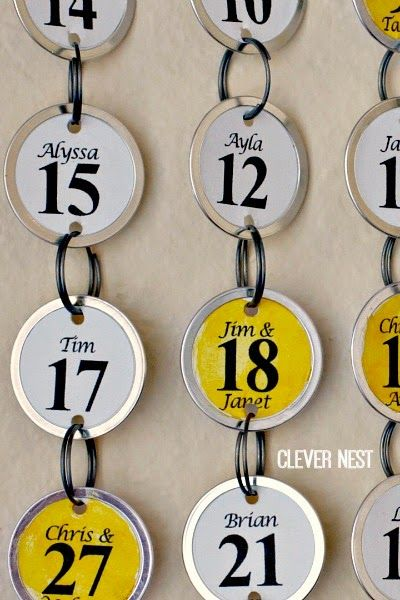 easy and lightweight alternative to make a birthday calendar- balsa wood and paper key tags! No power tools needed #yellowgray #silhouettecameo #anniversary #christmasgift #clevernest