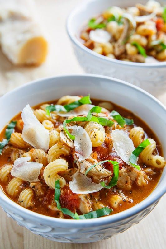Chicken Parmesan Soup Shared on http://www.facebook.com/TheDailySpoonandFork/