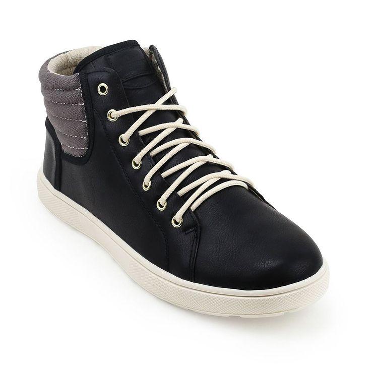 Unionbay Kickitat Men's High Top Sneakers, Size: medium (7.5), Black
