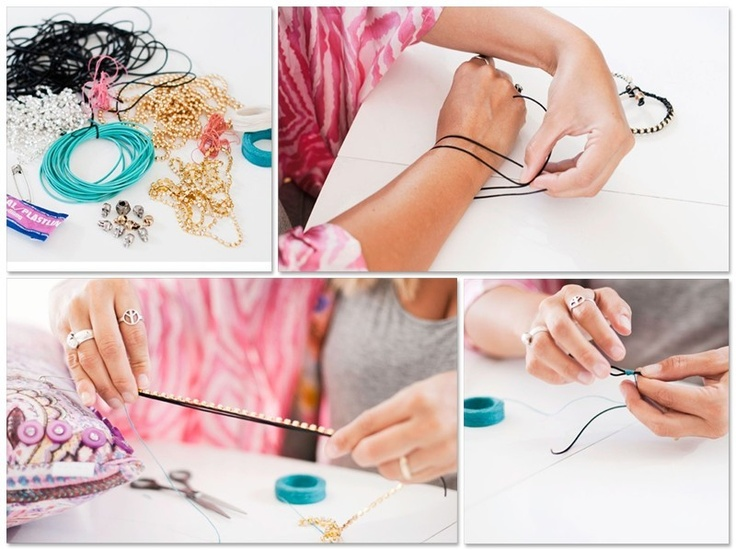 Easy stacking bracelet DIY I made this DIY a while back, repin if you like it. Pics by tuva Winslow