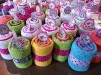toallas con formas para regalos recuerdos baby shower bautiz