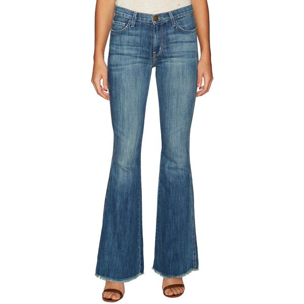 Current Elliott Women's Denim Faded Low Bell Bottom Jean - Size 23 ($70) ❤ liked on Polyvore featuring jeans, multi, denim jeans, ripped denim jeans, distressed denim jeans, high-waisted bell bottom jeans and bell bottom jeans