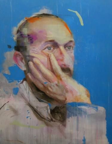"Saatchi Art Artist Lou Ros; Painting, ""PB2 ( SOLD )"" #art"