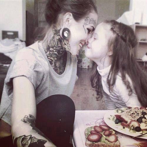 Tattooed mommy