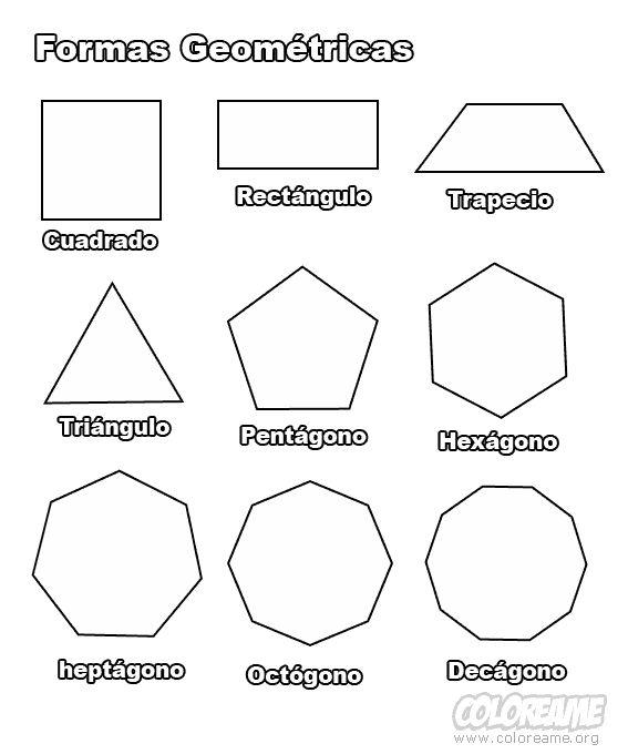 Las formas para imprimir dibujo para colorear de formas - Formas de pintar una casa ...