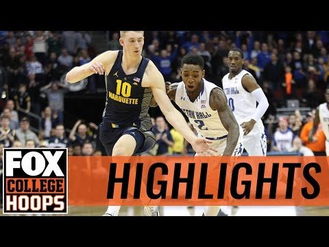 Seton Hall Pirates defeat Marquette Golden Eagles  | 2016 COLLEGE BASKETBALL HIGHLIGHTS