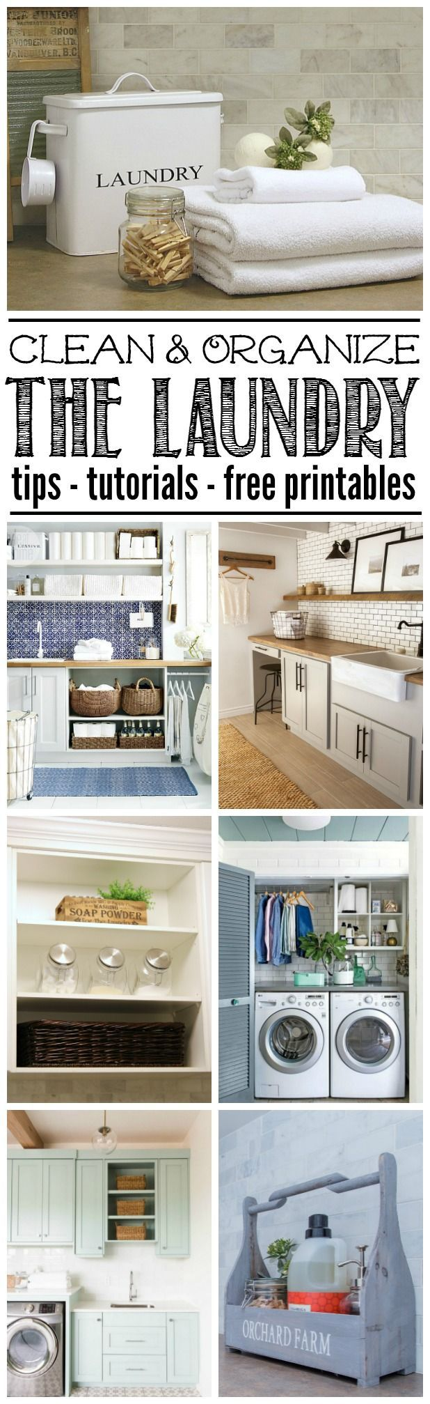 Organize the laundry room to create a beautiful and functional space with these tips and design ideas. Free printables included to help keep you on track!
