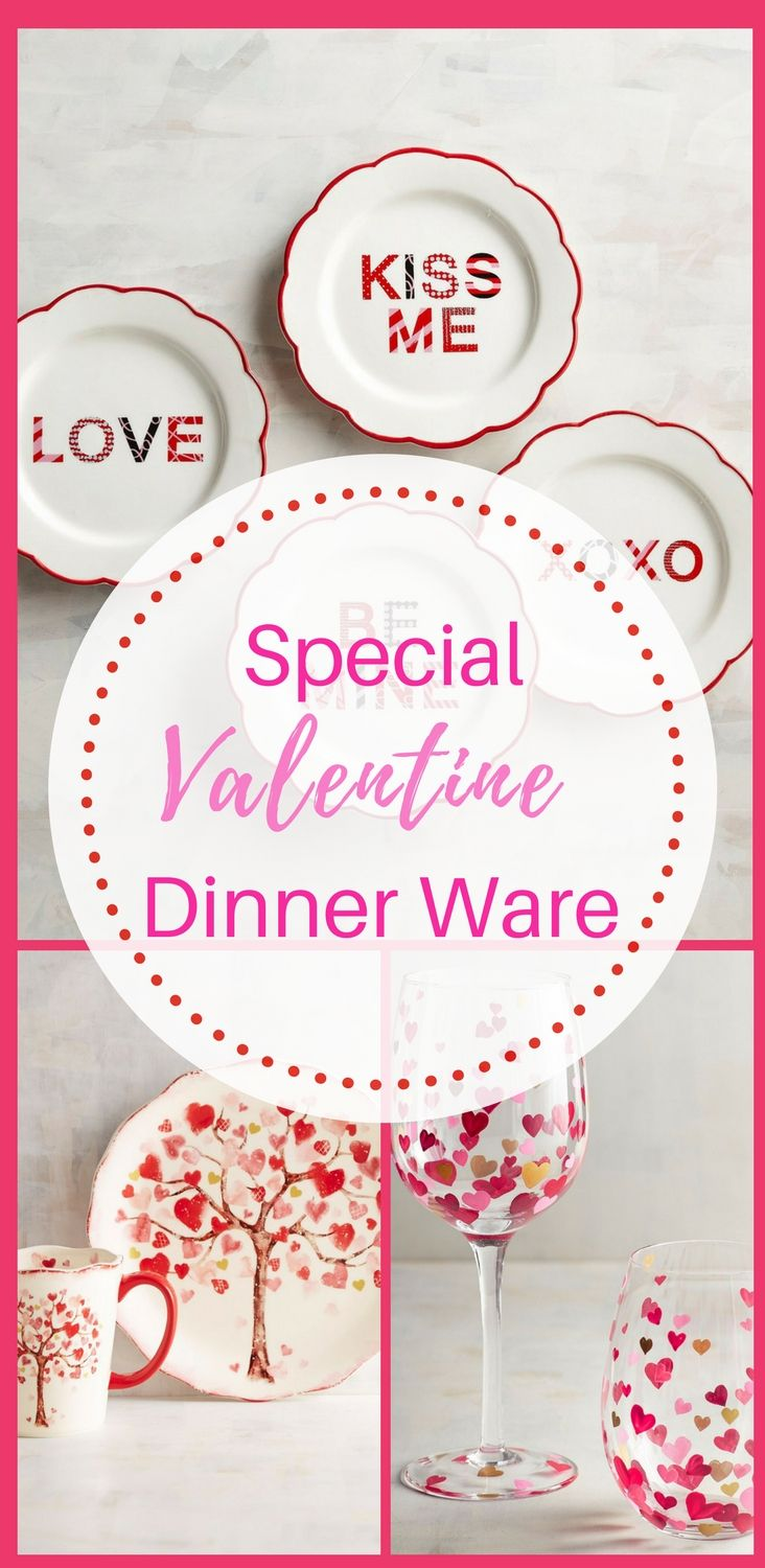 Found this set of valentine inspired dinner ware for a special romantic dinner, or a fun get together with family. Find them here @pier1.com. #affiliate #dinnerware #valentinesday #ideas #decor #tablesetting