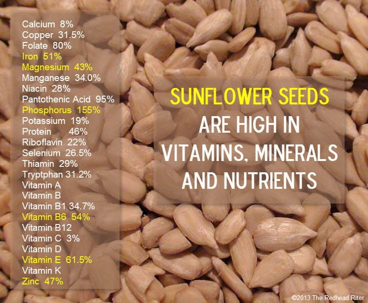 Sunflower Seeds make for a great snack because of all their nutrients. #additudemag and #adhdplate