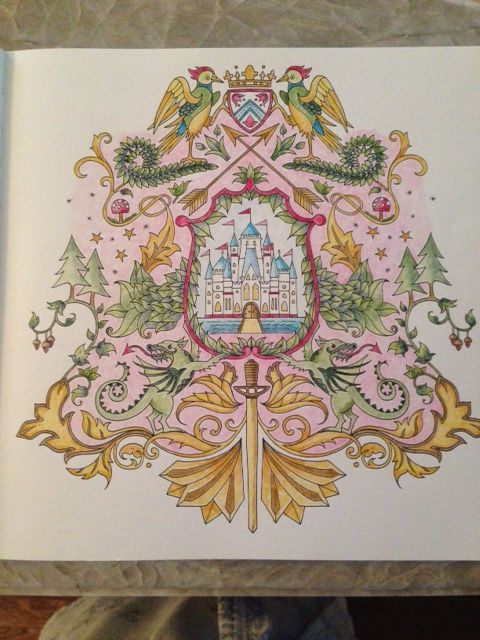 Enchanted Forest Coloring Book Artist Johanna Basford Coat Of Arms Page From The