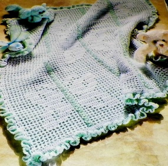 Crochet Baby Pattern Butterfly Afghan Vintage Out Of Print