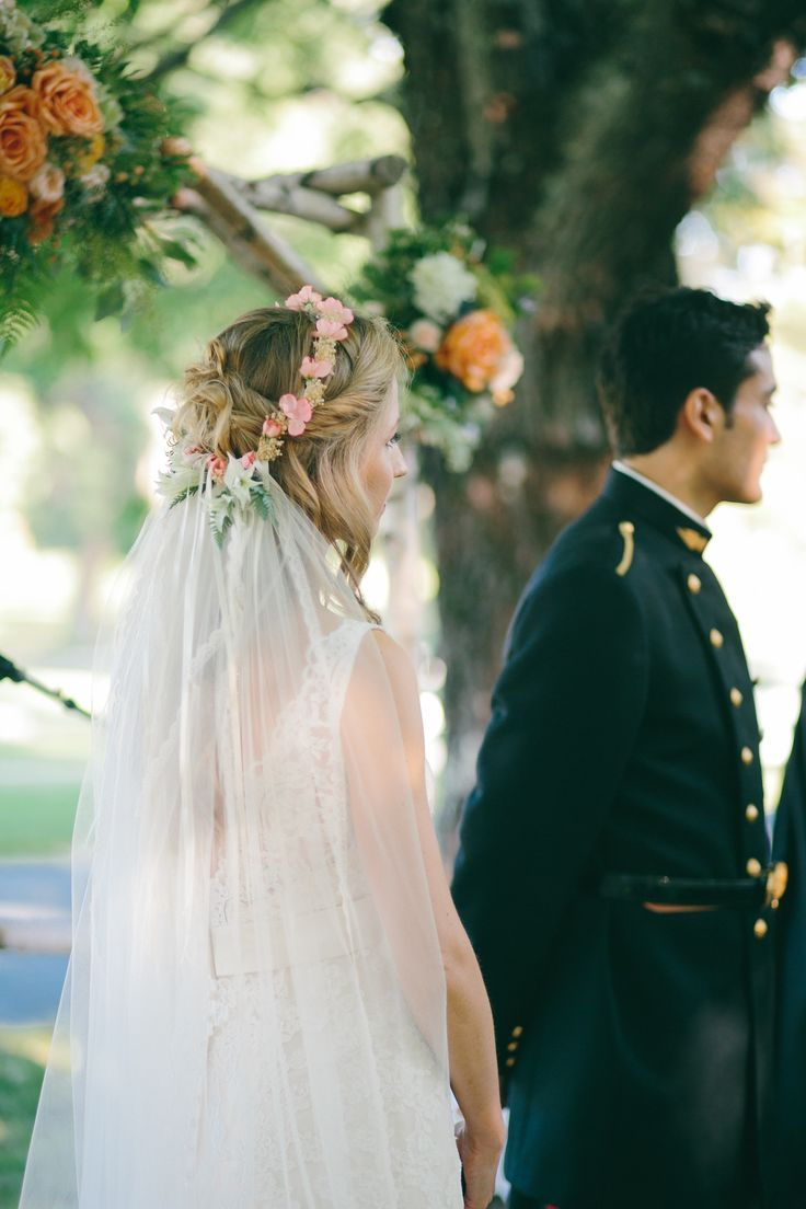 To veil or not to veil–with a floral headwreath - Weddingbee