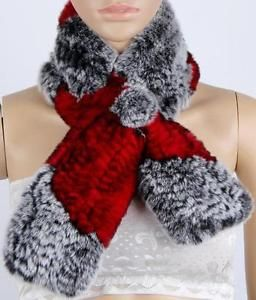 women-Real-Rex-rabbit-Fur-scarf-shawl-stole-Collar-Short-Scarves-cape-Wrap