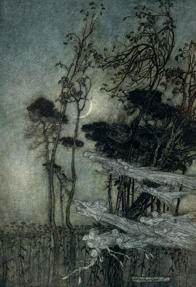 'A midsummer night's dream' by William Shakespeare  Arthur Rackham.The moon features heavily in H&G