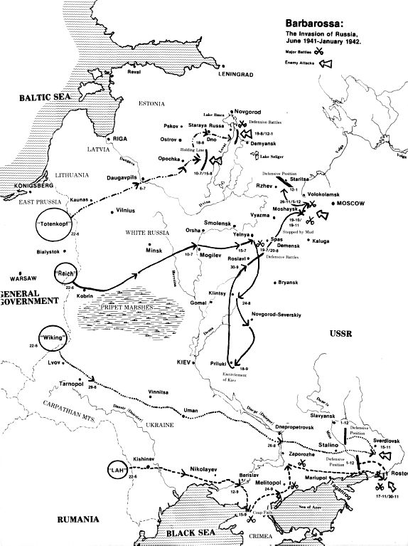 Operation Barbarossa — Waffen-SS Strikes The Waffen-SS divisions and brigades were posted to each of the three main German combat groups: Army Groups North, Center and South. In the woods of East Prussia, the Totenkopf and Polizei Divisions were posted in reserve ready to exploit any successes by Colonel-General Erich Hoepner's Fourth Panzer Group as they advance on Leningrad. The Das Reich Division was assigned to Colonel-General Heinz Guderian's Second Panzer Group, which was to lead the…