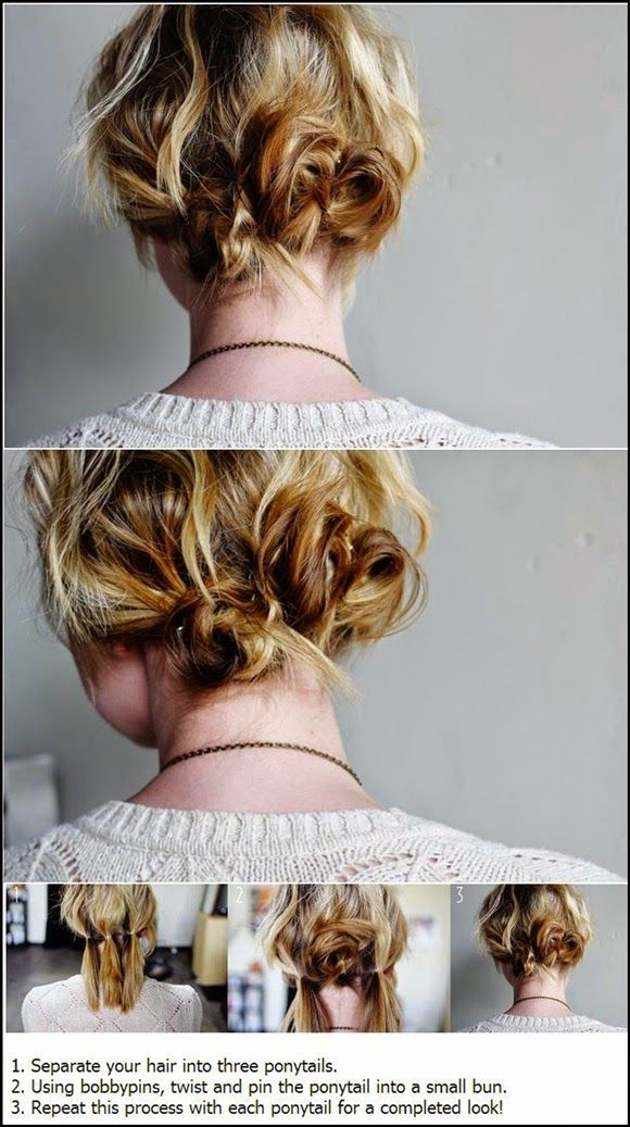 short hair style tutorial