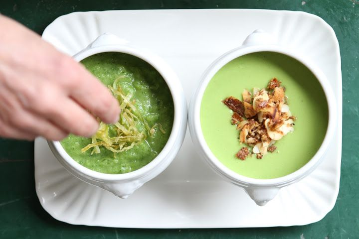Daily green soups by California Bakery