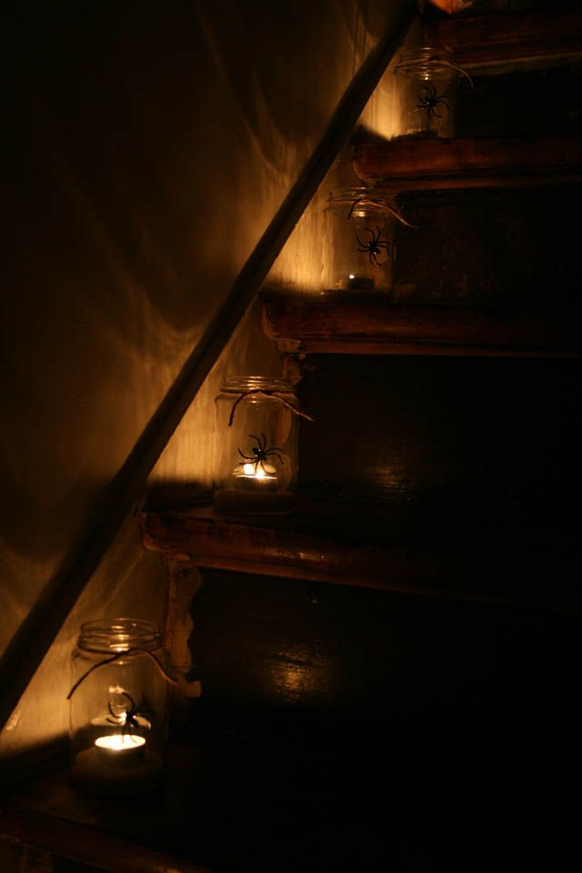 DIY Halloween glas lanterner • Sweet Country Life