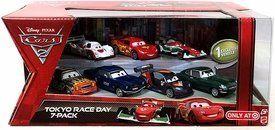 Disney / Pixar CARS 2 Movie Exclusive 1:55 Die Cast Car 7 Piece Set Tokyo Race Day [David Hobbscap, Brent Mustangburger, Darrell Cartrip, Francesco Bernoulli, Lightning McQueen, Shu Tudoroki & Max Schnell] by Mattel, http://www.amazon.com/dp/B009L5X3RM/ref=cm_sw_r_pi_dp_pqDssb1GWG1EC