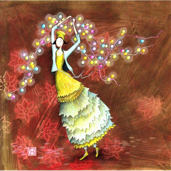 Gaelle Boissonnard, La guirlande de Noel - the Christmas garland.