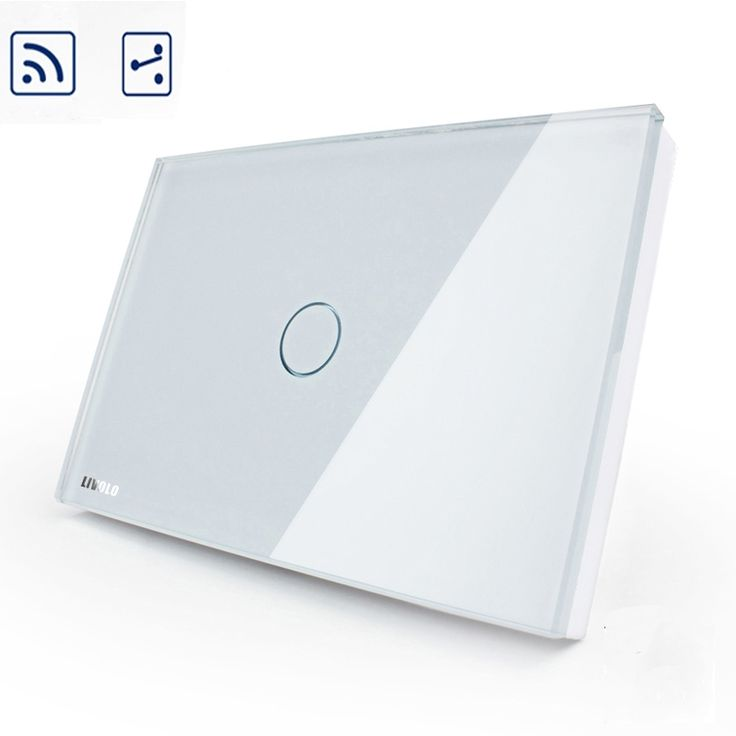 37.17$  Watch here - http://dik0a.justgood.pw/ali/go.php?t=32714365357 - Smart home Livolo Remote Switch, Ivory Crystal Glass Panel Smart Switch US/AU 1 Gang 2 way Wireless Remote Home Light Switch