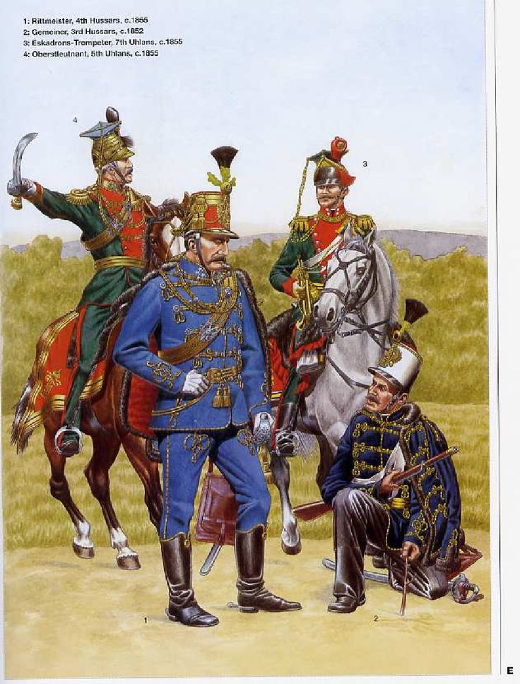 austrian army 1836/66 cavalry i own nothing book belongs to ospery