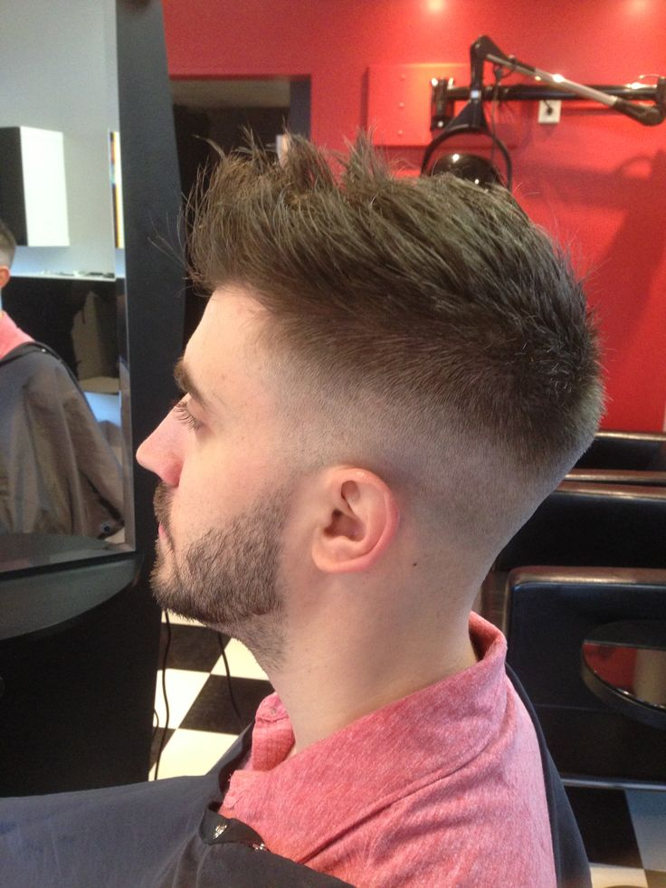 How To Get Straight Hair For Guys : Straight razor tight sides fade hair